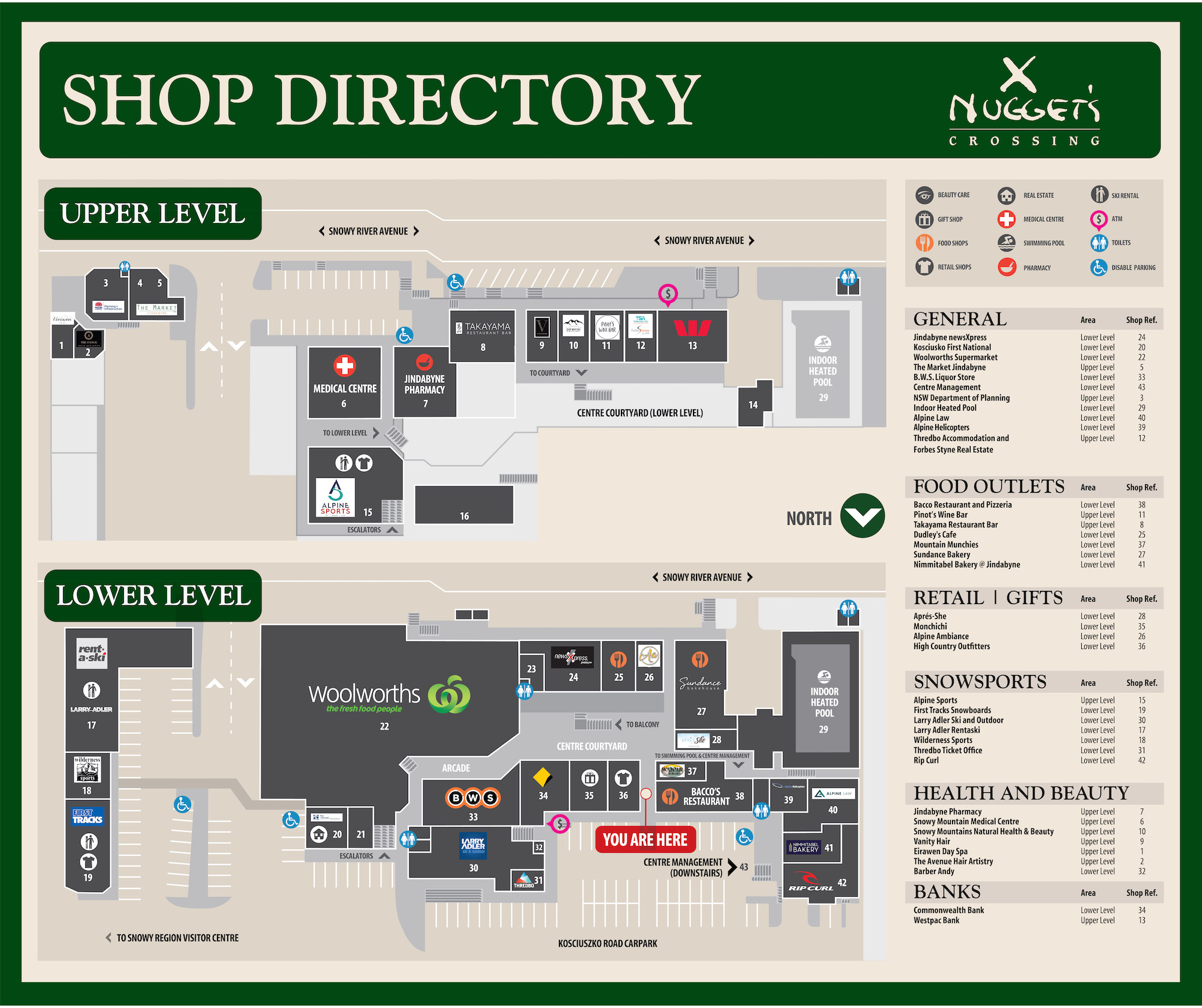 Nuggets Crossing Directory Map June 2021